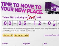 Blogger không bất ngờ khi Yahoo 360 chưa đóng cửa