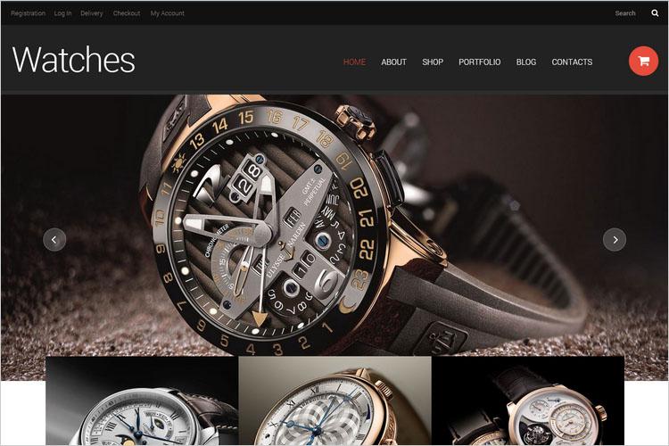Thiết kế website cửa hàng đồng hồ, kính mắt thời trang